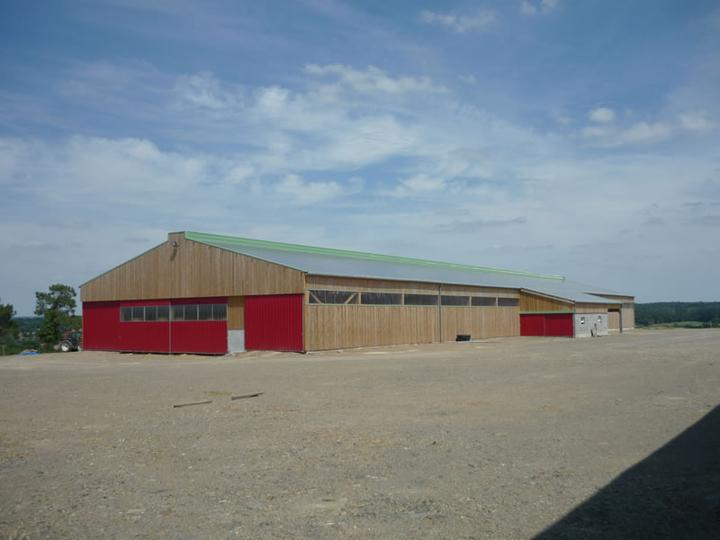 Charpente de b timent agricole constructions rebours for Plan hangar agricole